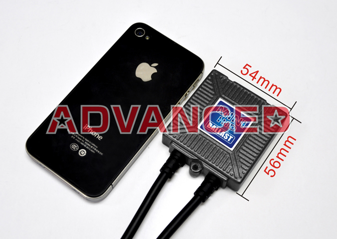 ADVANCED HID MINI HID iPhoneとのサイズ比較
